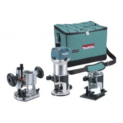 Makita RT0700CX2 - Fresadora 6 y 8 mm